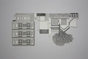 Monica Rizzolli, MAP, 2014, nanquim sobre papel, dimensões variáveis, detalhe